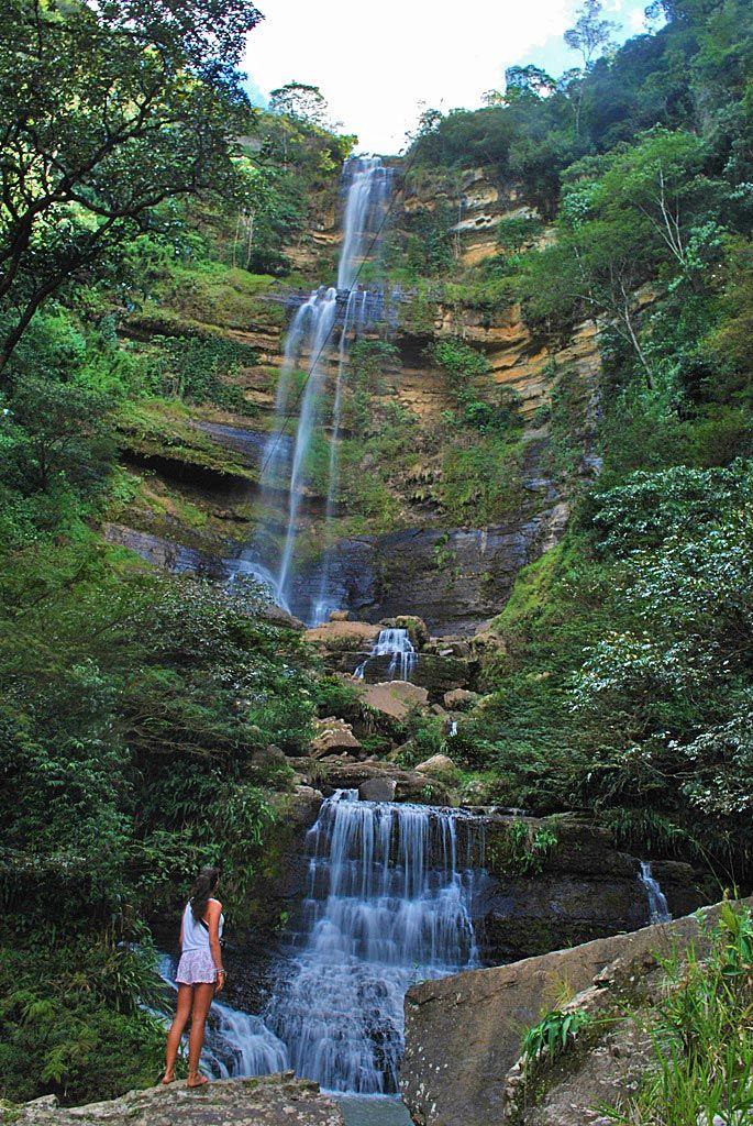 Juan Curi waterfall near San Gil Colombia