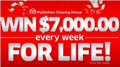 Publishers Clearing House   Win $7000 a Week For Life #Sweepstakes #ad