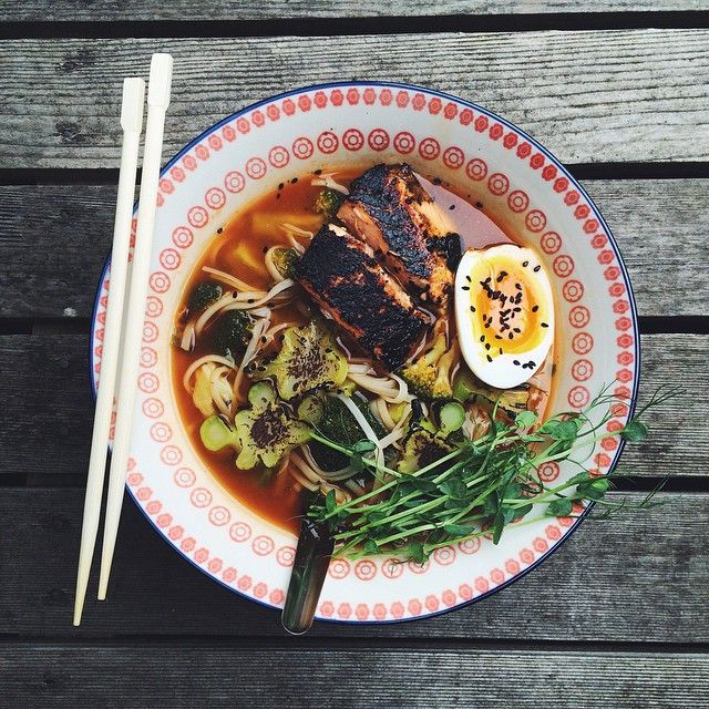 """Anyone else up for #Ramen Monday? Blackened Miso Salmon Ramen by @saltbyjames. This is a super quick & easy #recipe! http://feedfeed.info/list/post?id=669266 Get the recipe and 30+ more similar recipes from the Noodle Soup Feed on our WEBSITE, feedfeed.info/noodlesoups ⭐️Remember to share your cooking, baking, and drink making by tagging """"#feedfeed @thefeedfeed"""" for a chance to be featured here and on our site!"""