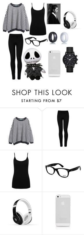 """Lazy Day"" by hayleyhudson62 on Polyvore featuring Wolford, M&Co, Ray-Ban, Beats by Dr. Dre and Emporio Armani"