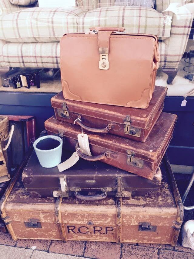 Vintage suitcases #interiordesign #vintage