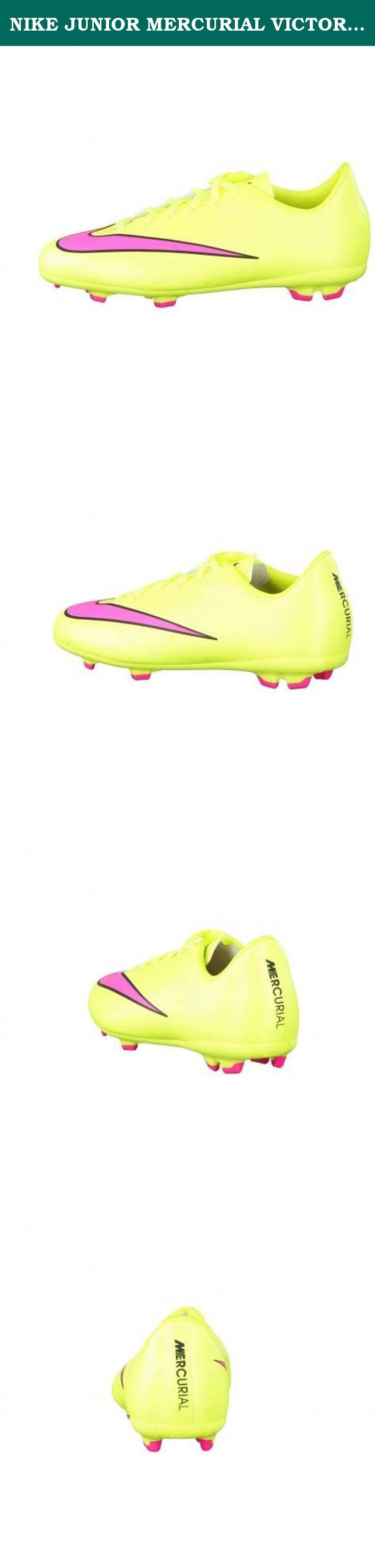NIKE JUNIOR MERCURIAL VICTORY V FG- (VOLT/HYPER PINK-BLACK) (3.5y). PRODUCT DESCRIPTION NIKE JR MERCURIAL VICTORY V FG- (VOLT/HYPER PINK-BLACK) Nike Jr. Mercurial Victory V FG Kids' Firm-Ground Football Boot MINIMAL FIT FOR EXPLOSIVE SPEED. The Nike Jr. Mercurial Victory V FG Kids' Firm-Ground Football Boot optimizes players' natural speed without sacrificing touch. Its updated Vapor traction system delivers multidirectional traction while a micro-texture upper helps grip the ball…