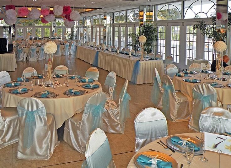 Imperial Ballroom Light blue wedding. Grand Plaza resort