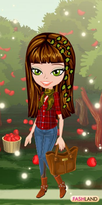 Newton found gravity with apples falling. You found your inner FASH!  #fashland #fashion #passionforfashion #dressup #trendy #casual #chic #gamegos #onlinegames #gaming  #red #apples #orchard #nature #leaves #trees #naturalbeauty
