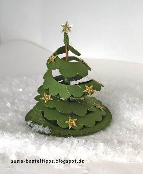 Thursday, December 10, 2015 Susi's Basteltipps: Oh Tannenbaum - a Christmas tree instead of Rose - Spiral Flower becomes Christmas tree http://susis-basteltipps.blogspot.com/2015/12/oh-tannenbaum-ein-weihnachtsbaum-statt.html