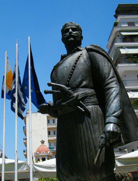 Cretan-Macedonian Fighter Statue in Thessaloniki,Macedonia,Greece