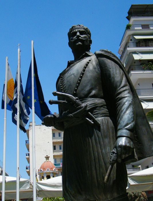 Cretan-Macedonian Fighter Statue in Thessaloniki,Macedonia,Greece