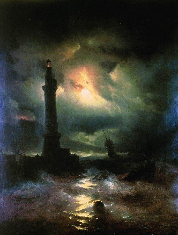 Neapolitan Lighthouse - Ivan Aivazovsky