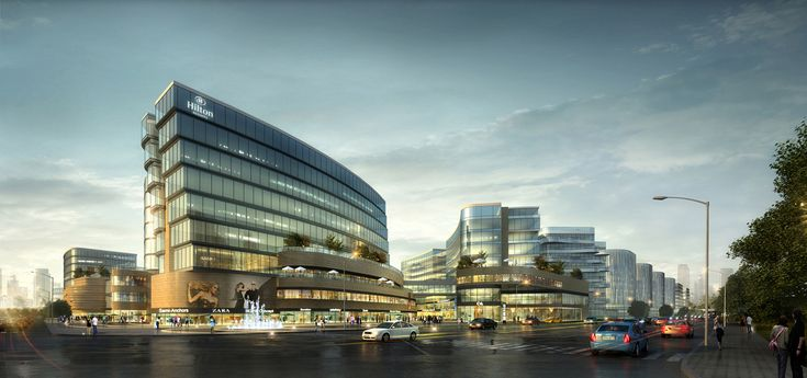 UA Studio 7 and Aedas' Central Business District for Hongqiao Airport Now Underway,Star Hotel. Image Courtesy of UA Studio 7
