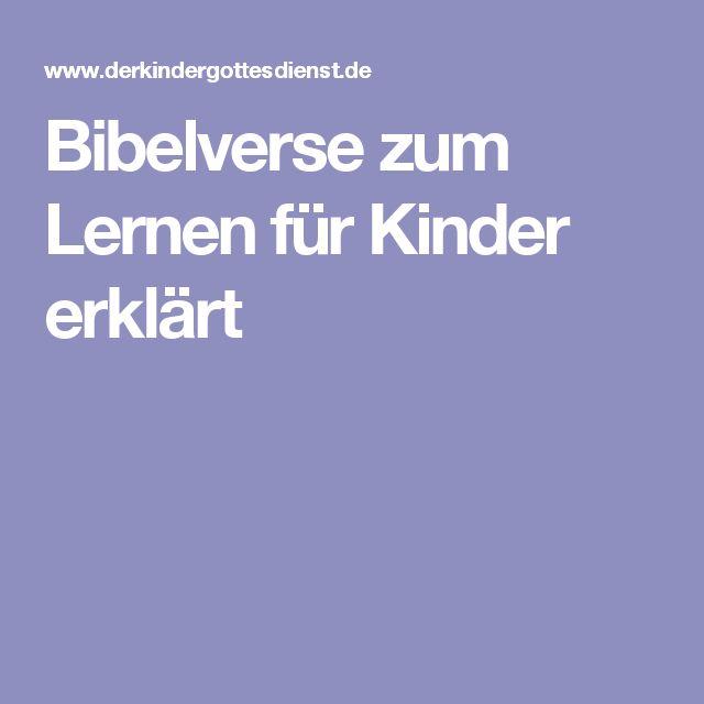 Bibelverse zum Lernen für Kinder erklärt