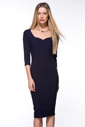 Milla by trendyol - Yılbaşı Koleksiyonu - Yaka Detaylı Mor Elbise 69,99 TL