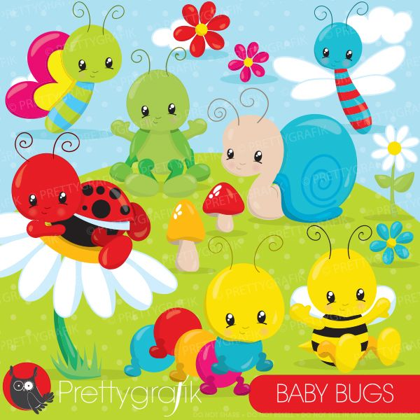 Baby bugs cliparts
