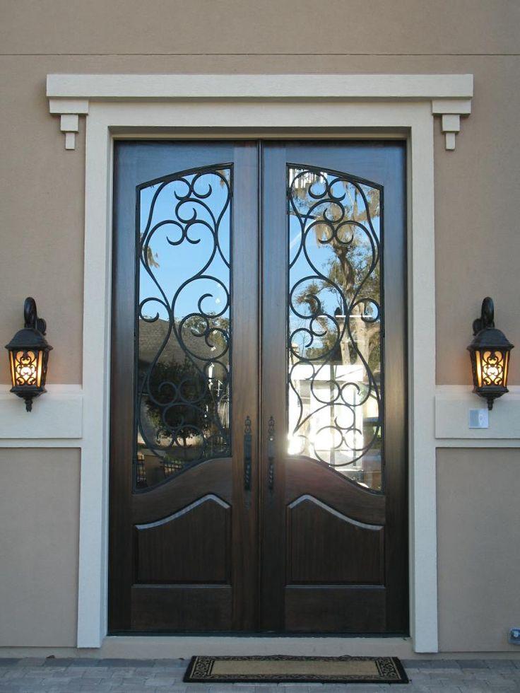 Superb Black Exterior Door 8 Black Front Door Home Depot: Best 20+ Iron Doors Ideas On Pinterest