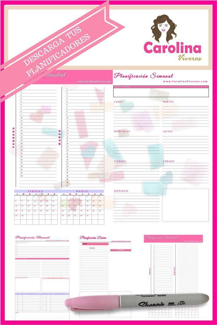 Junto al Mini Curso de Relaciones Públicas Personales, accede también GRATIS al Set de Planificadores: Semanales, Mensuales, Diarios y Trimestrales que puedes imprimir las veces que quieras!!!