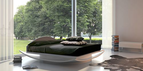 Contemporary bedroom design and decor.