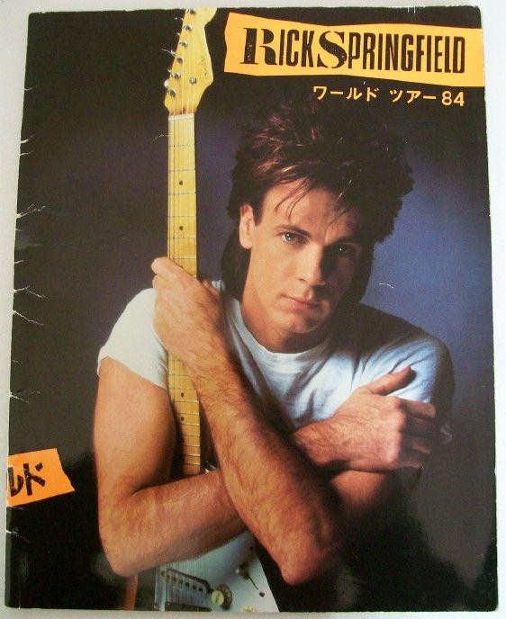 1984 Rick Springfield World Tour Book From Japan - $35.00 : Inside ...