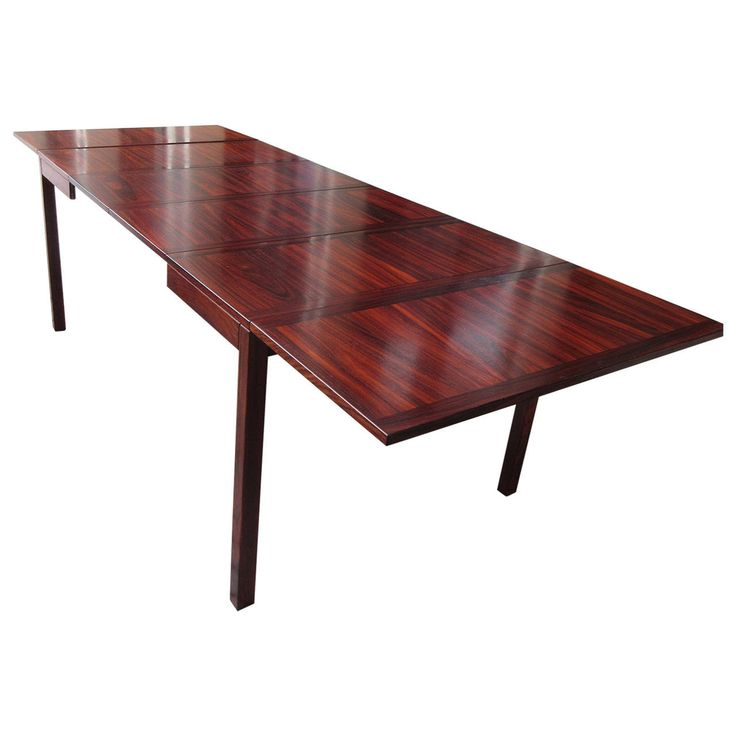 Kai Winding Rosewood Drop-Leaf Extension Table by Vejle | From a unique collection of antique and modern dining room tables at https://www.1stdibs.com/furniture/tables/dining-room-tables/