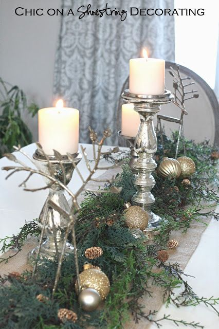 Chic on a Shoestring Decorating Christmas House Tour 2013