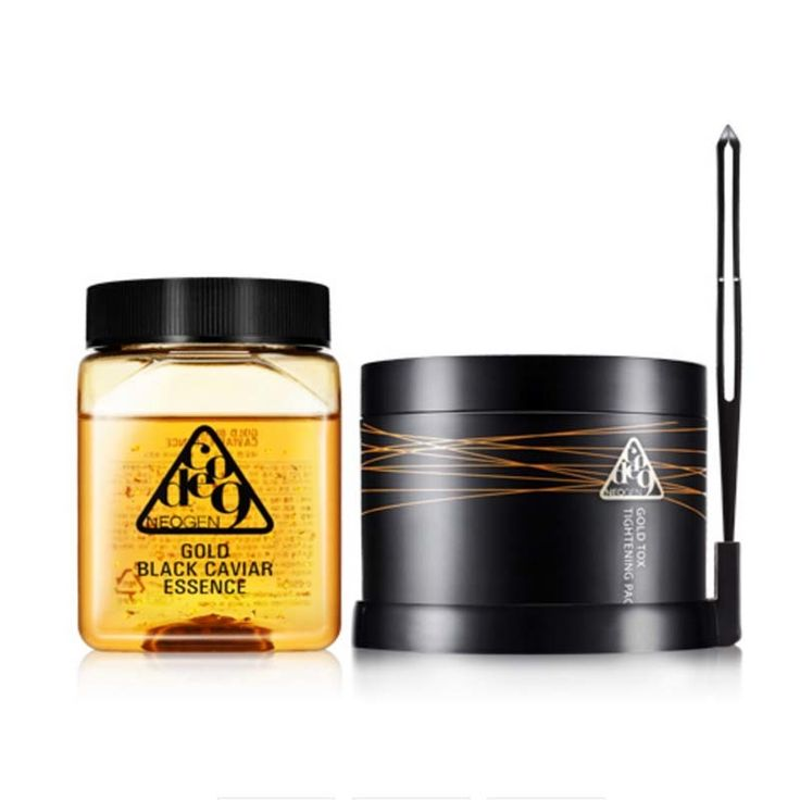 [NEOGEN] Code 9 Gold Black Caviar Essence & Gold Tox Tightening Pack Kit 250ml (25ea Cotton Pads)