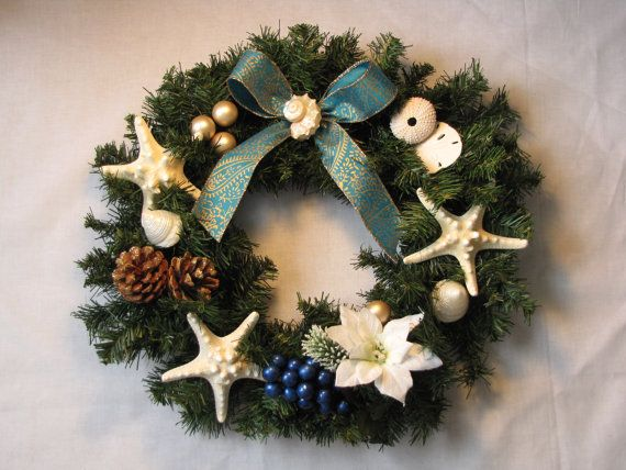 17 Best Images About Seashell Christmas Amp Beach Wreaths