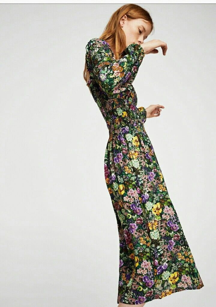 8641733d6e Mango flower printed dress | Mango ☆ 2017 ~ 2018 ~ 2019 | Dresses ...