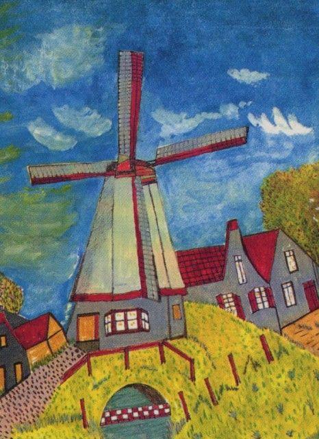 Workshops Schilderen & Tekenen, docent: Henk van Vlerken, schildetij in de stijl van Riet van Bezouwen