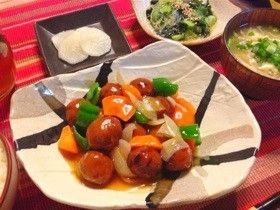 肉団子と野菜の甘酢あんかけ♡