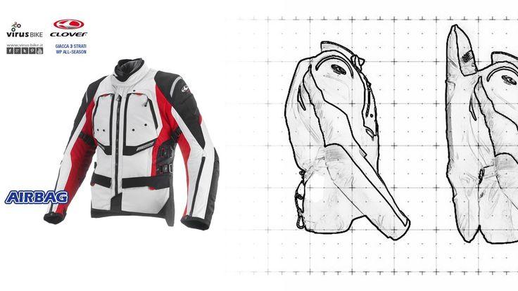 Giacca da #moto #touring #GTS3 #Airbag di #Clover su www.virus-bike.it