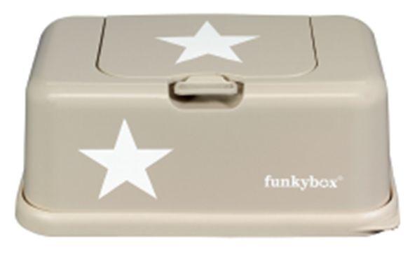 Dispensadores de toalhitas : Funkybox bege estrelas