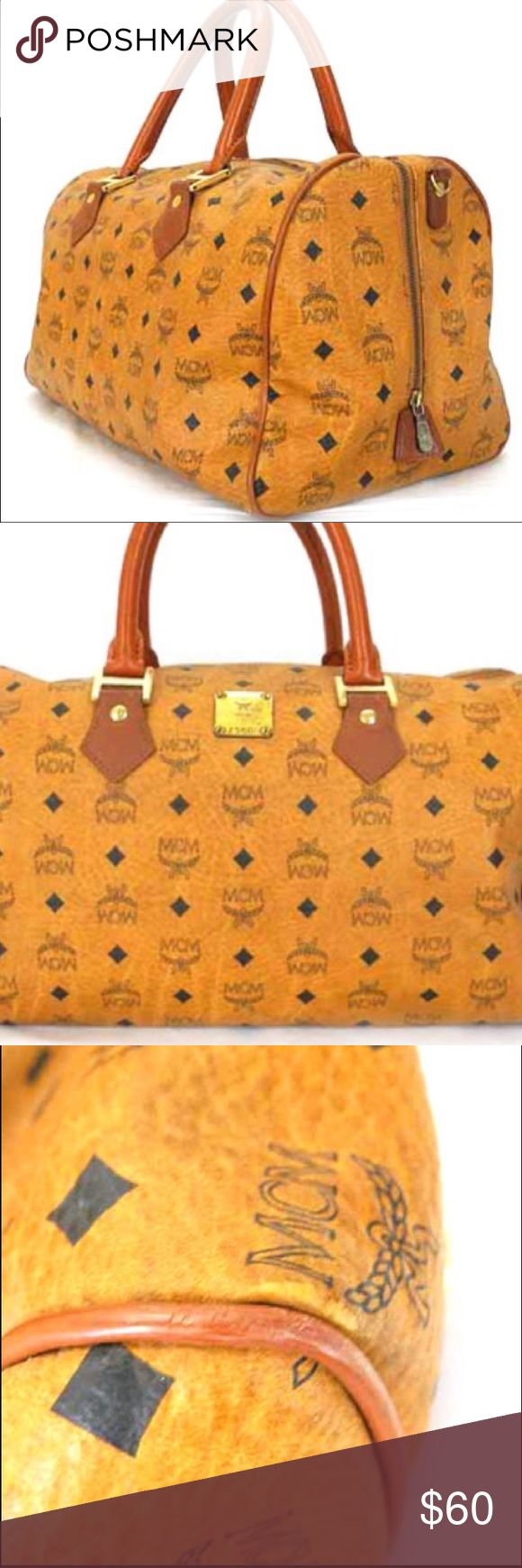 💖 Faux MCM Speedy style handbag Very nice 💖 💖 Faux MCM Speedy style handbag Very nice 💖 Bags