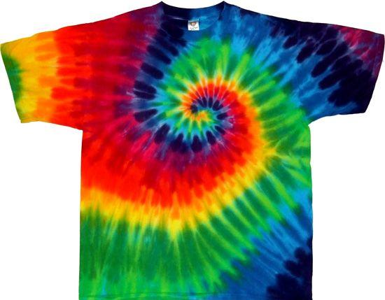 12 color spiral tie dye rainbow shirt Joe Freeman