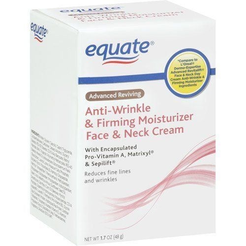 Equate Advanced Reviving Anti Wrinkle and Firming Moisturizer Face and Neck Cream Compare to L'OrealDermo Expertise by Equate. $10.58