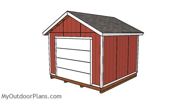12x12 Shed With Garage Door Plans Pergola Ideas For Patio Door Plan Pergola