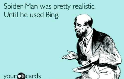 Seriously, Peter, you're supposed to be a genius... Yah everybody knows you don't use bing ugh god your so stupid!