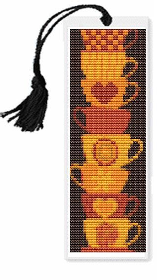 Stack of Cups Bookmark Cross Stitch by TheArtofCrossStitch, $3.99