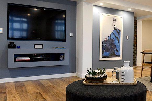 inset tv and shelf under home pinterest. Black Bedroom Furniture Sets. Home Design Ideas