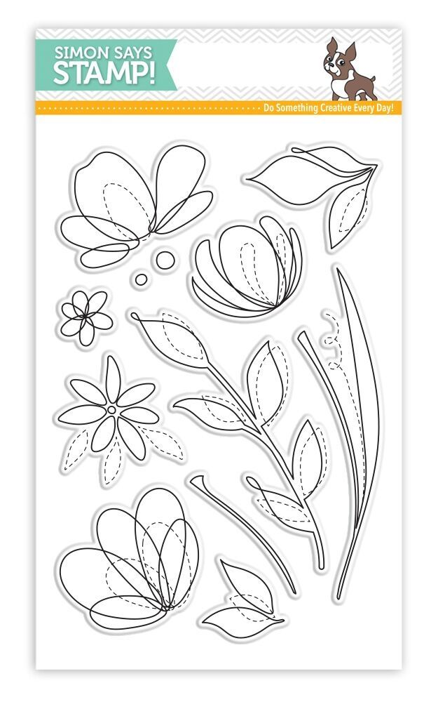 Simon Says Clear Stamps SPRING FLOWERS SSS101595 Reason To Smile zoom image
