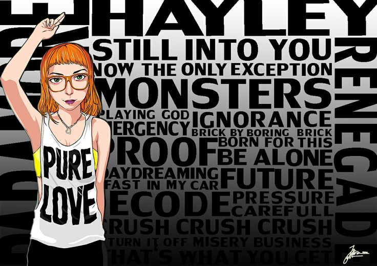 Hayley Williams (Paramore) and List Songs