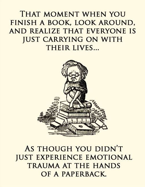 Exactly how I felt after reading the Hunger Games trilogy in less than a week...