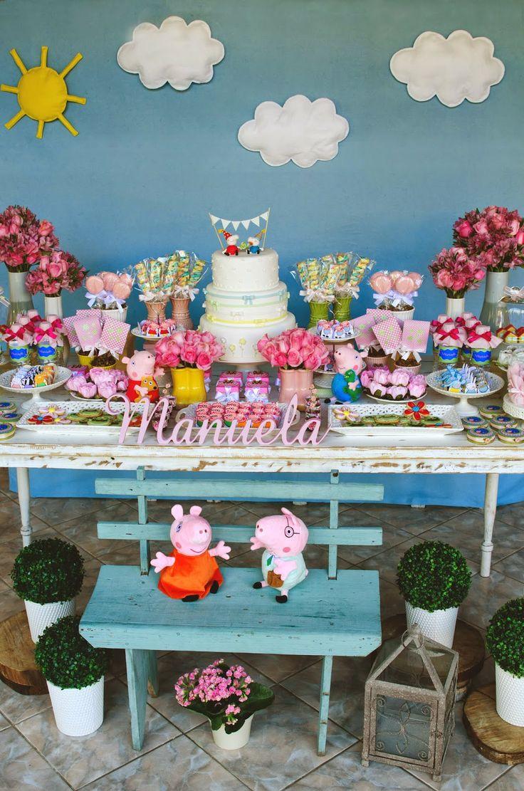 Doce Eve Ateliê   decoração - docinhos - mimos: Peppa Pig para Manu!