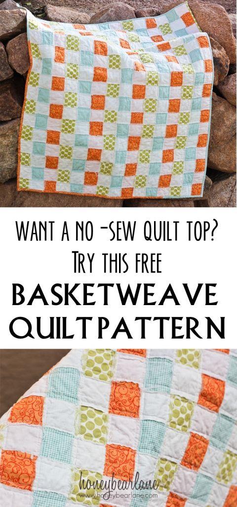 no sew quilt pattern