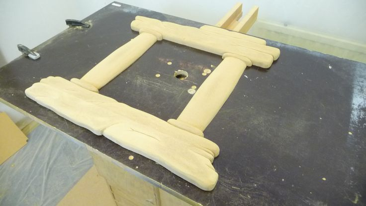 The mirror frame has been sanded..!