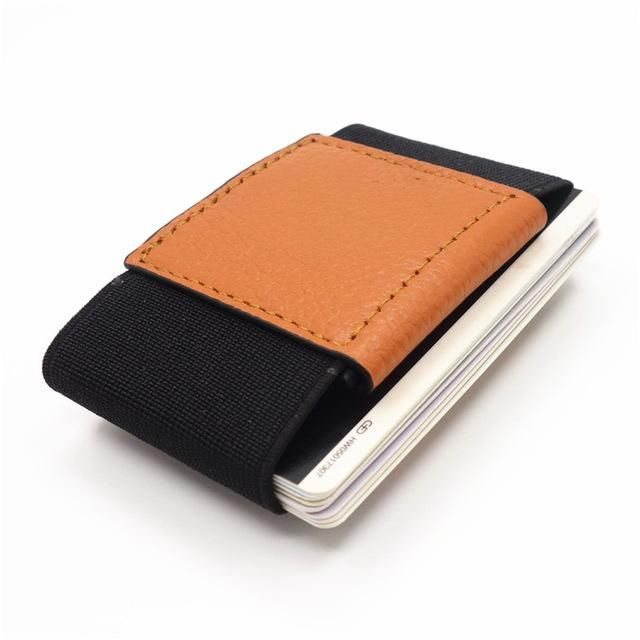 Men slim leather wallet with elastic front pocket card holders and men slim leather wallet with elastic front pocket card holders and cash business card holder purse colourmoves