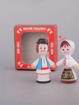 Marturii Figurine Traditionale Din Lemn Port Popular Olt