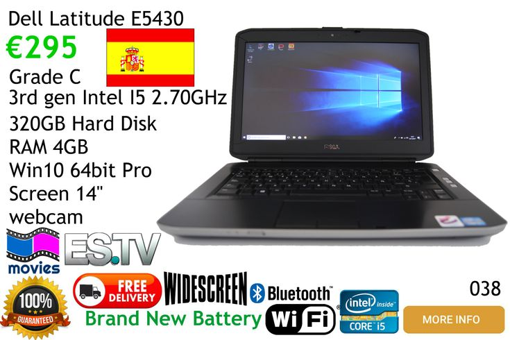 Dell Latitude E5430 Laptop Computer for sale free delivery mainland Spain, local pickups  Malaga area Frigiliana Nerja Torrox Competa