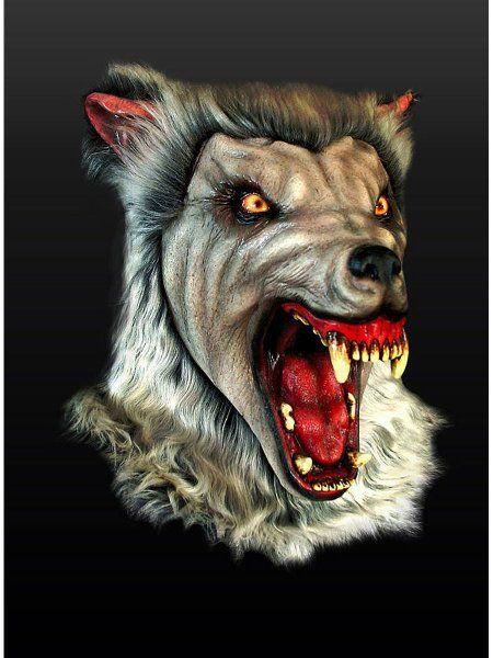 """https://11ter11ter.de/17039997.html Latex Überziehmaske """"Schneewolf"""" für Erwachsene #11ter11ter #Maske #Latex #Tiermaske #Tier #Mask #Animal #Kostüm"""