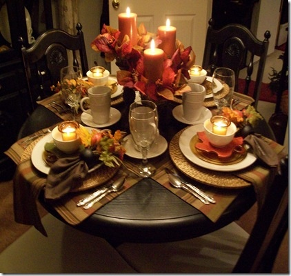 exquisite dining room table setting autumn fall table pinterest