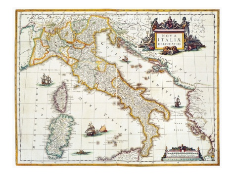 Map Of Italy, 1631 Giclee Print by Johannes Blaeu at Art.com
