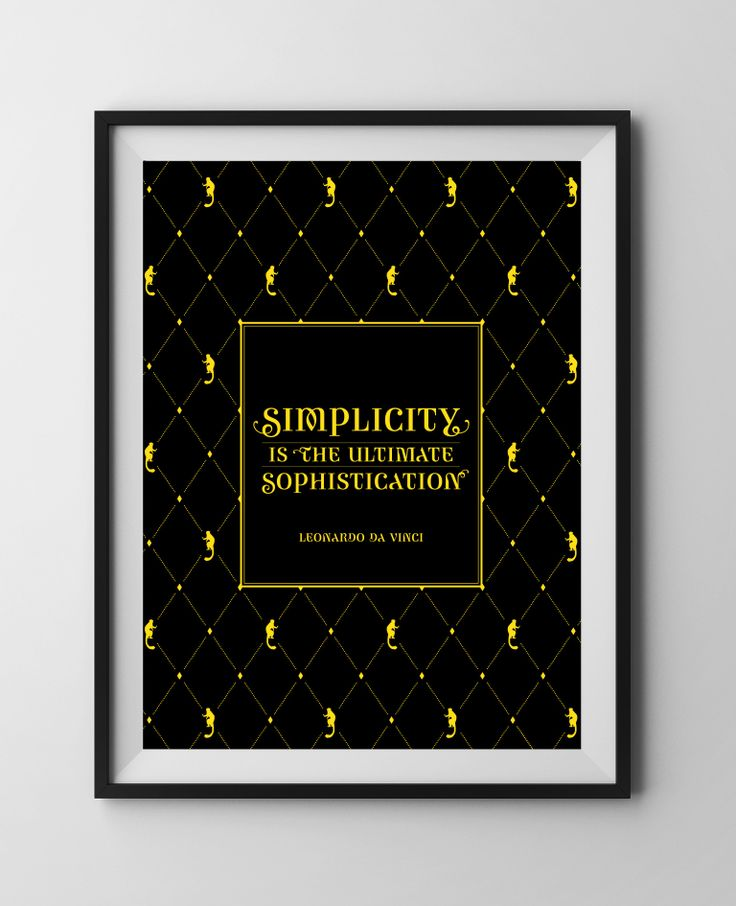 Design Quote IS01 { Simplicity is the Ultimate Sophistication } ~ Limited Edition Justus Magazine Poster