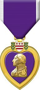 Purpleheart.jpg....TODAY IS NATIONAL PURPLE HEART DAY.  Awarded for being wounded or killed in any action against an enemy of the United States or as a result of an act of any such enemy or opposing armed forces.
